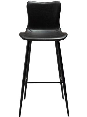Dan-Form Medusa Barkruk – Set van 2 – Zithoogte 75 cm - Zwart Kunstleer