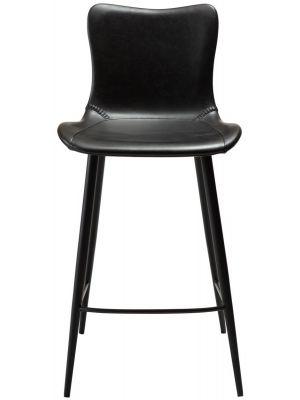 Dan-Form Medusa Counter Barkruk – Set van 2 – Zithoogte 65 cm - Zwart Kunstleer