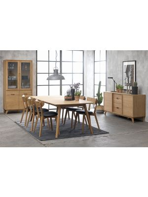 24Designs Sandved Verlengbare Eettafel - 180/270x100x75 - Eiken