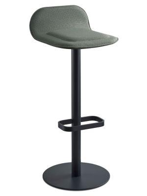 Moree Dave Barkruk - Zithoogte 78 cm - Stof Groen - Mat Antraciet Onderstel