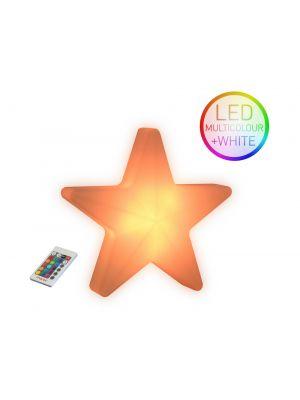 Moree Star LED Wandlamp voor Buiten met Accu - L40 x B41 cm - Wit