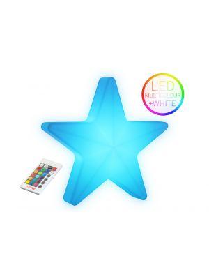 Moree Star LED Wandlamp voor Buiten met Accu - L55 x B57 cm - Wit
