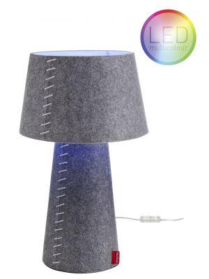 Moree Alice Tafellamp met multicolor LED - Ø30 x H50 cm - Grijs