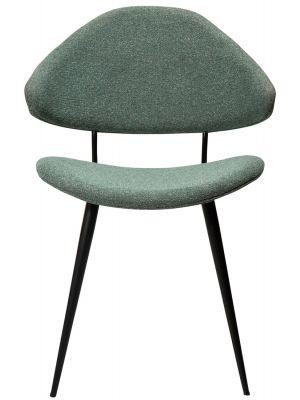 Dan-Form Napoleon Eetkamerstoel – Set van 2 – Bouclé Stof Groen – Metalen Poten
