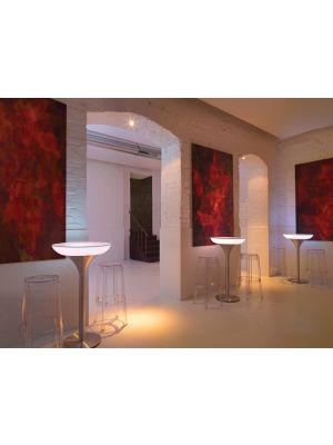 Moree Lounge M Indoor Bartafel - Ø60 x H105 cm - Wit