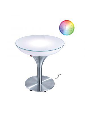Moree Lounge M Outdoor LED Salontafel - Ø60 x H55 cm – Wit