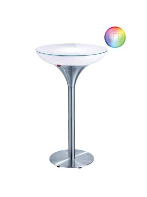 Moree Lounge M Outdoor LED Bartafel met Accu - Ø60 x H105 cm