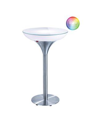 Moree Lounge M Indoor LED Pro Bartafel met Accu - Ø60 x H105 cm
