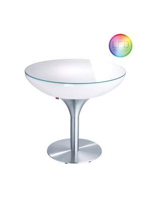 Moree Lounge Indoor LED Pro Eettafel met Accu - Ø84 x H75 cm – Wit
