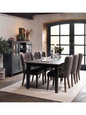 Rowico Nottingham Verlengbare Eettafel - Bruin Tafelblad - Grijze Poten - L200 x B100 x H75 cm