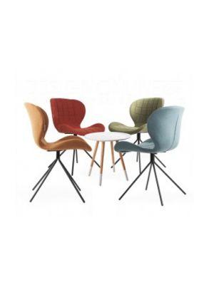 Zuiver OMG Actieset - 4 stoelen Mix aanbieding + Gratis bijzettafel t.w.v. € 79,-