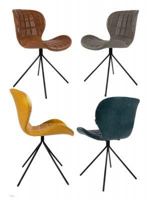 Zuiver Stoel OMG Kunstleer - 6 stoelen Mix aanbieding + Gratis bijzettafel t.w.v. € 79,-
