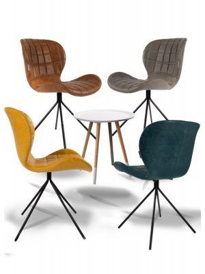 Zuiver OMG Actieset Kunstleer - 4 stoelen Mix aanbieding + Gratis bijzettafel t.w.v. € 79,-