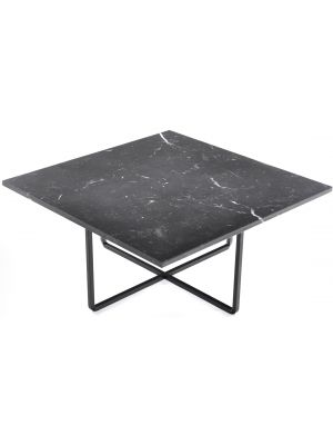 OxDenmarq Salontafel Ninety - L80 x B80 x H37 - Zwart Onderstel - Zwart Marmer