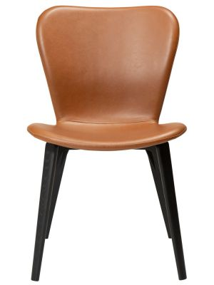 Dan-Form Paragon Eetkamerstoel – Set van 2 – Cognac Kunstleer – Essenhout Poten