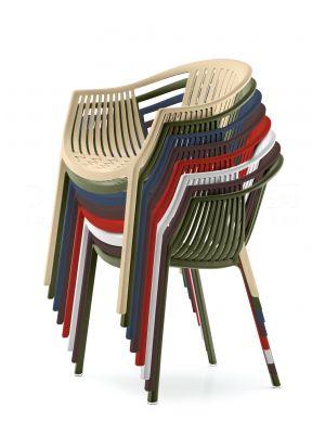 Pedrali Tatami 306 Stoel - Armleuning - Stapelbaar - Set van 12 - Mixbundel