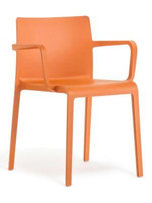 Pedrali Stapelbare Volt 675 Stoel Set van 2 - Armleuningen - Oranje