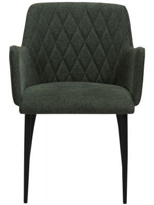 Dan-Form Rombo Stoel – Set van 2 – Stof Groen – Zwart Metalen Poten