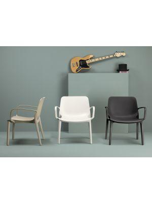 SCAB Ginevra Lounge Fauteuil Stapelbaar - Set van 2 - Antracietgrijs