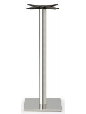 SCAB Tafelonderstel Tiffany - H109 cm - Ronde Poot - Vierkante Voetplaat - Gepolijst RVS