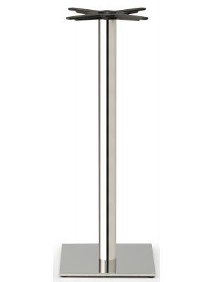 SCAB Tafelonderstel Tiffany - H109 cm - Ronde Poot - Vierkante Voetplaat - Mat RVS