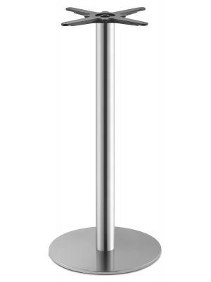 SCAB design Tafelonderstel Tiffany - Hoogte 109 cm - Ronde Poot - Ronde Voetplaat - Mat RVS