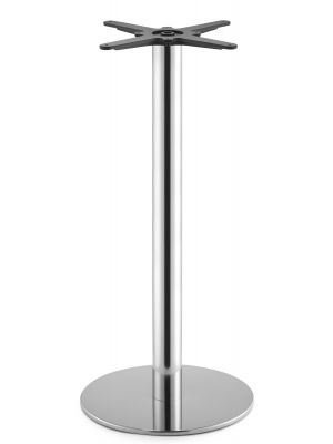 SCAB design Tafelonderstel Tiffany - Hoogte 109 cm - Ronde Poot - Ronde Voetplaat - Gepolijst RVS
