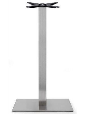SCAB Tafelonderstel Tiffany - H109 cm - Rechthoekige Voetplaat - RVS