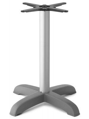 SCAB Tiffany Tafelonderstel - Hoogte 73 cm - Ronde Aluminium Poot - 4-Teens Onderstel