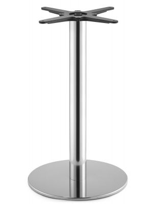 SCAB design Tafelonderstel Tiffany - Hoogte 73 cm - Ronde Poot - Ronde Voetplaat - Mat RVS