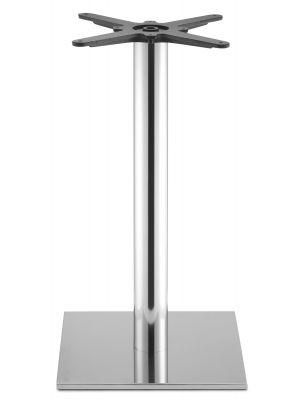 SCAB design Tafelonderstel Tiffany - Hoogte 73 cm - Ronde Poot - Vierkante Voetplaat - Gepolijst RVS