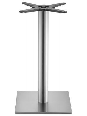 SCAB design Tafelonderstel Tiffany - Hoogte 73 cm - Ronde Poot - Vierkante Voetplaat - RVS