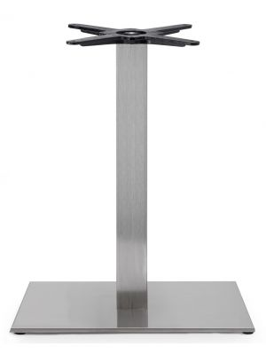 SCAB Tafelonderstel Tiffany - H73 cm - Rechthoekige Voetplaat - RVS