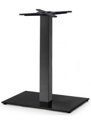SCAB Tafelonderstel Tiffany - H73 cm - Rechthoekige Voetplaat - Zwart