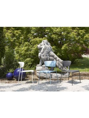 SCAB Lisa Stapelbare Tuin en Terrasstoel - Set van 4 - Antracietgrijs