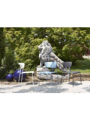 SCAB Lisa Stapelbare Tuin en Terrasstoel - Set van 4 - Air Force Blue