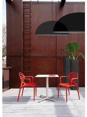 SCAB Klapbaar Tafelonderstel Domino - H73 cm - Vierkante kolom - Wit - Outdoor