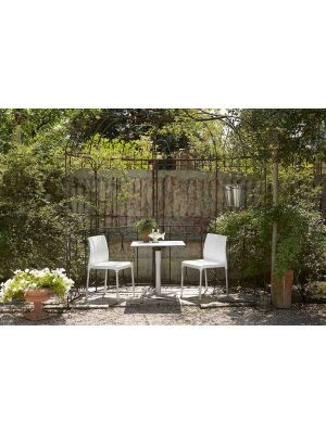 SCAB Klapbaar Tafelonderstel Domino - H73 cm - Vierkante kolom - Zilver - Outdoor
