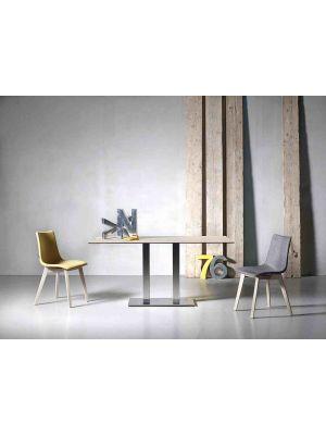 SCAB Tiffany Tafelonderstel - H73 cm - RVS - Dubbele Kolom Rechthoekige Voetplaat