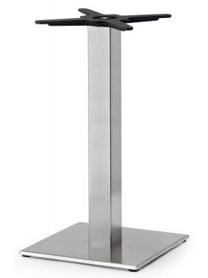 SCAB Tiffany Tafelonderstel - H73 cm - Vierkante Voetplaat - Mat Geborsteld RVS