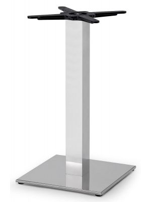 SCAB Tiffany Tafelonderstel - H73 cm - Vierkante Voetplaat - Gepolijst RVS + Aluminium