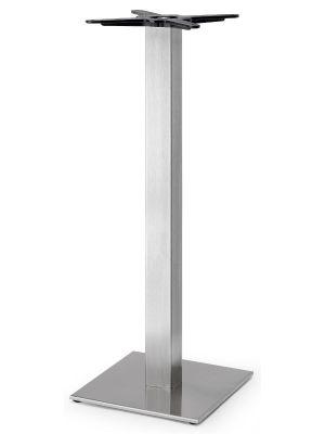 SCAB Tafelonderstel Tiffany - H109 cm - Vierkante Voetplaat - Mat RVS