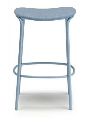 SCAB Trick Barkruk - Zithoogte 75 cm - Stof Lichtblauw - Blauw Metalen Onderstel