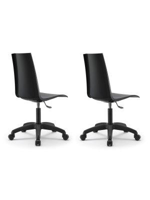 SCAB Mannequin Bureaustoel - Set van 2 - Antraciet