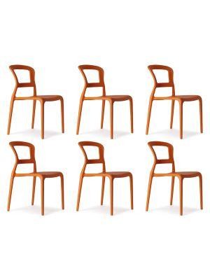 SCAB Pepper Stapelbare Stoel - Set van 6 - Oranje