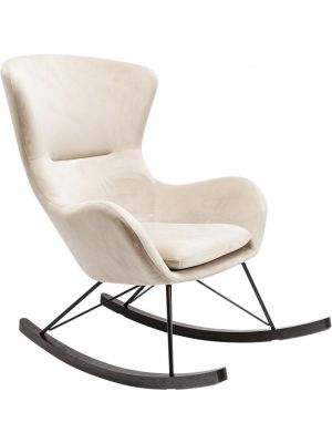 Kare Design - Schommelstoel Oslo - Beige Stof