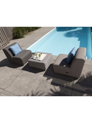 Exotan Loungestoel Kubbano - Outdoor Relax Fauteuil - Taupe