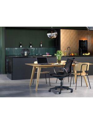 24Designs Bureaustoel & Vergaderstoel Hawk Office - Zwart Mesh