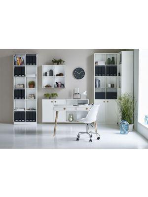 24Designs Softline Bureau - L114 x B57 x H76 cm - Wit