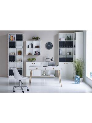 24Designs Softline Bureau - L130 x B70 x H76 cm - Wit